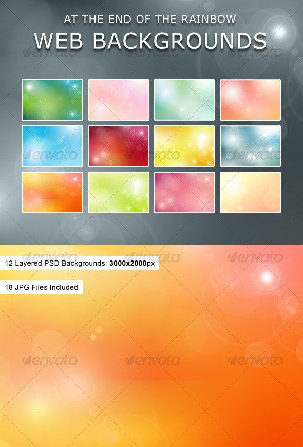 At The End Of The Rainbow Web Backgrounds - Backgrounds Graphics
