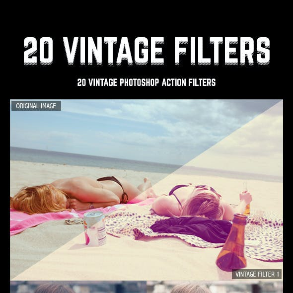20 Vintage Inspired Photoshop Action Filters