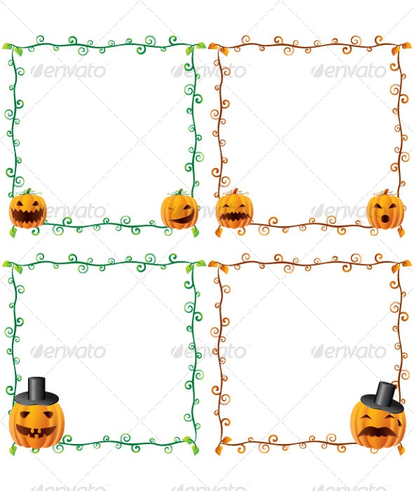 Halloween Frames - Decorative Vectors