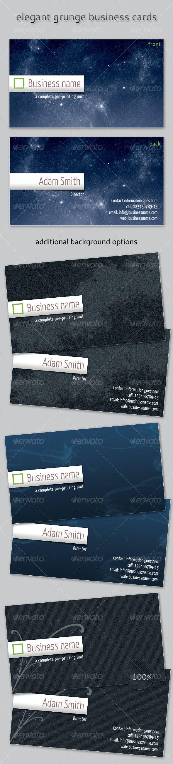 Elegant Grunge Business Card - Creative Business Cards