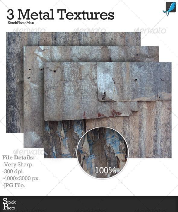 3 Metal Textures - Industrial / Grunge Textures