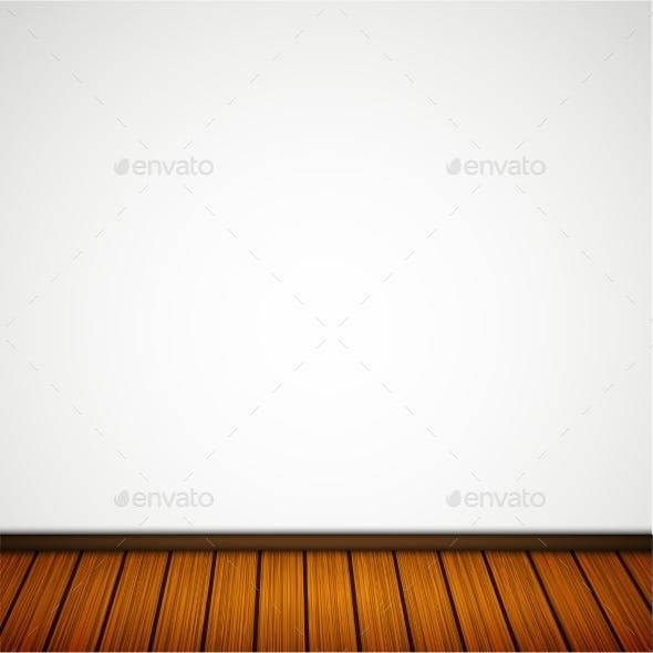 Wall with Wooden Floor