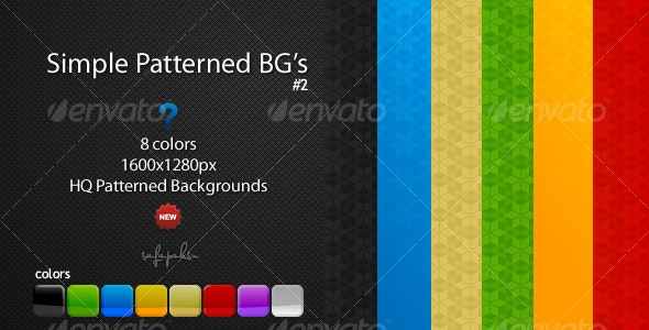 8 Color Pattern Backgrounds - Patterns Backgrounds