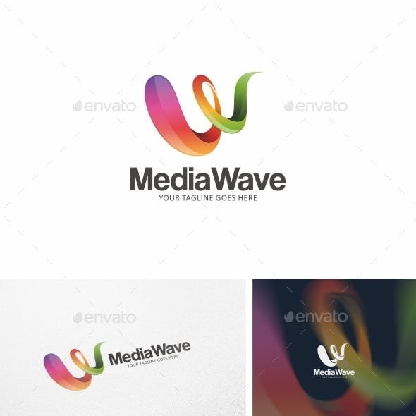 Media Wave - Logo Template Vol. 01