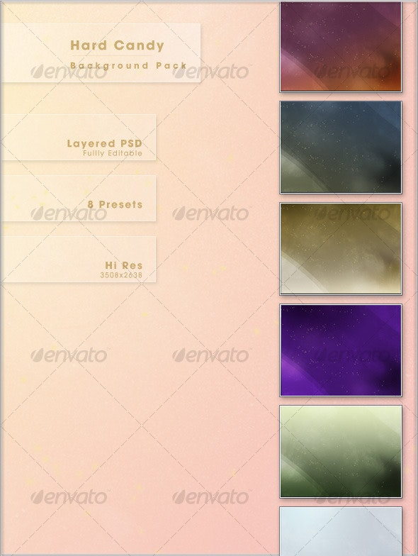 Hard Candy Background Pack - Miscellaneous Backgrounds