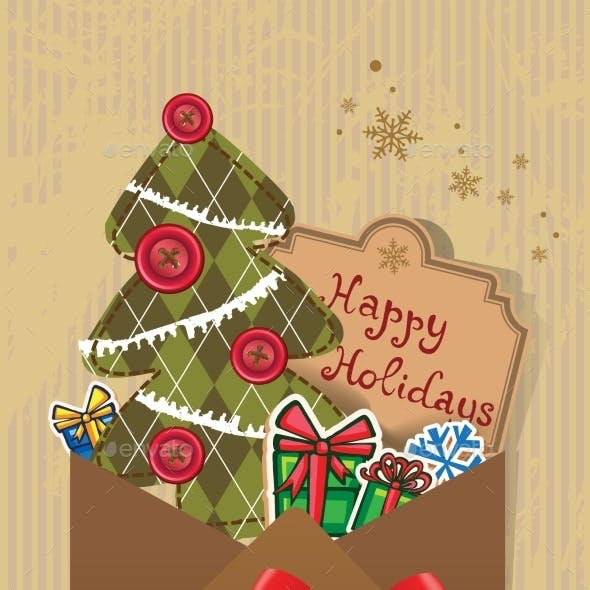 Scrapbook Christmas Greeting Card