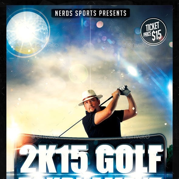Golf Competition 2K15 Sports Flyer