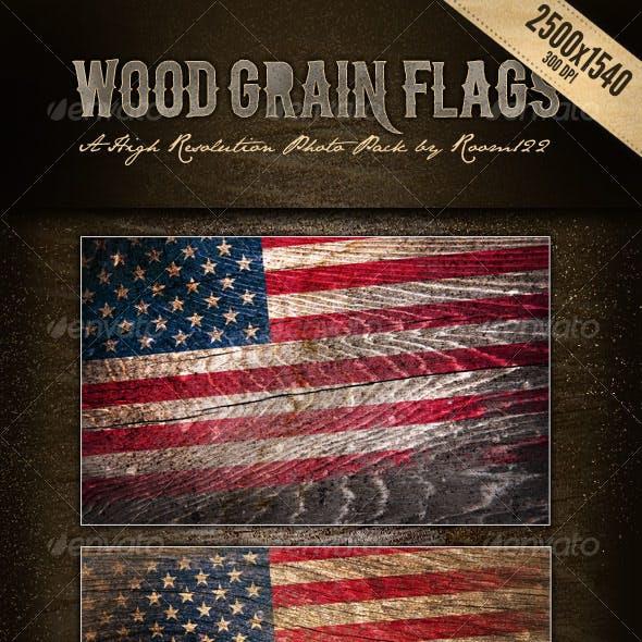 Wood Grain Flags