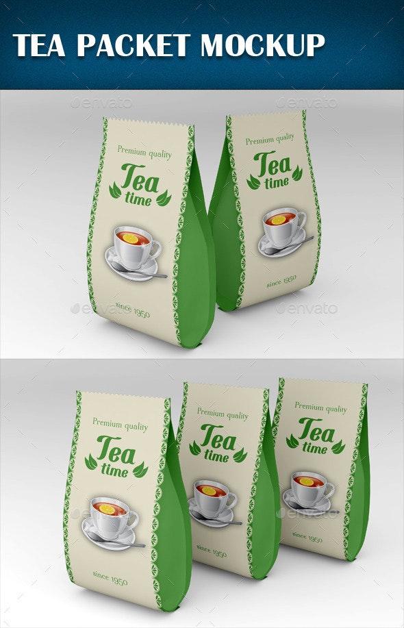 Tea Packet Mockup - Product Mock-Ups Graphics