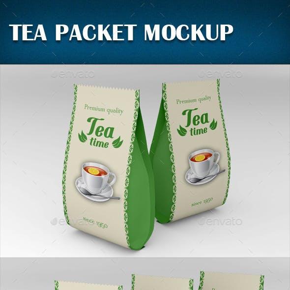 Tea Packet Mockup