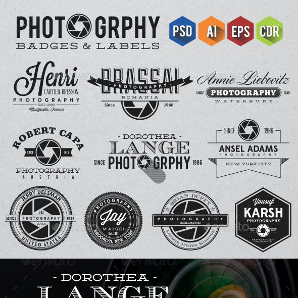 Photography Badges & Labels