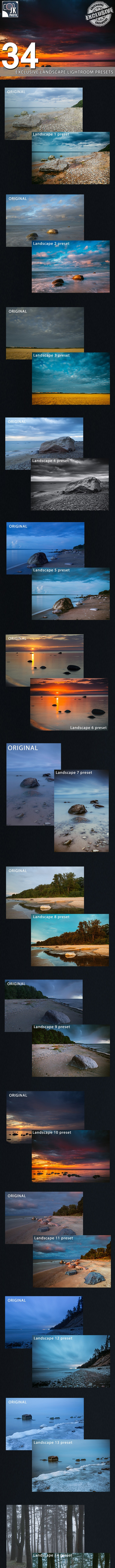 34 Exclusive Landscape Photography Presets - Landscape Lightroom Presets
