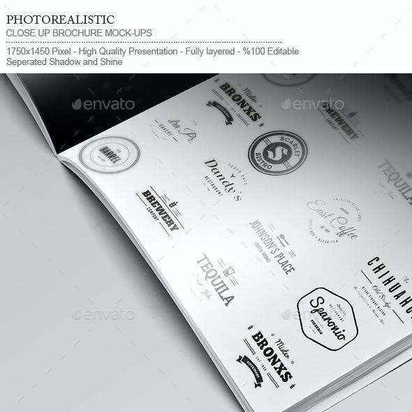Flyer / Logo / Brochure / Close-Up Mock-Up