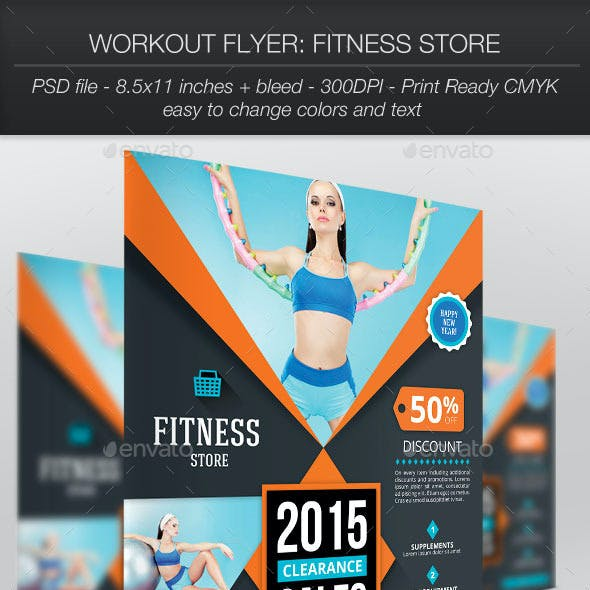 Workout Flyer: Fitness Store