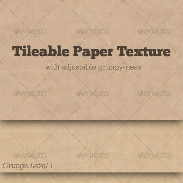 Tileable Paper Texture w/ Adjustable Grunge