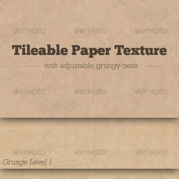 Tileable Paper Texture w/ Adjustable Grunge
