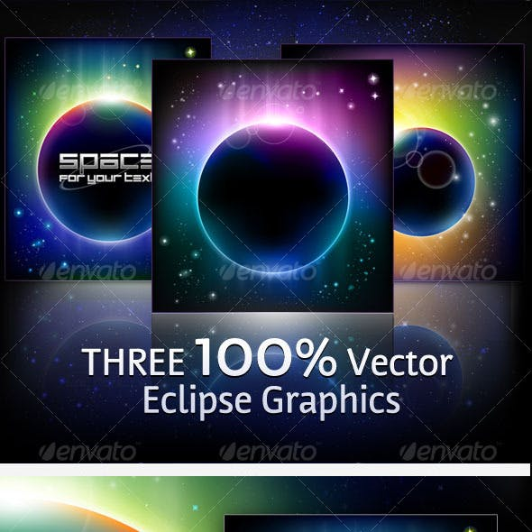 3 Vector Eclipse Backgrounds
