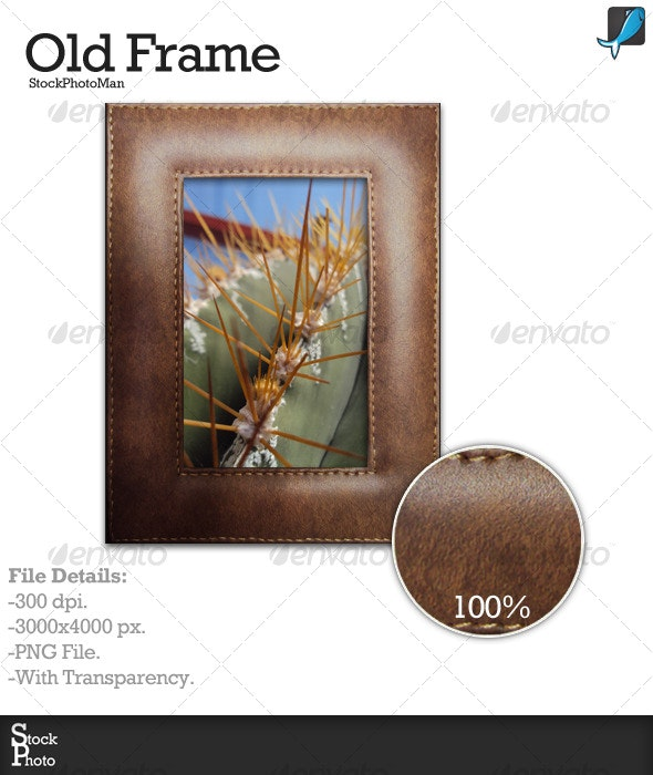 Leather Photo Frame - Home & Office Isolated Objects