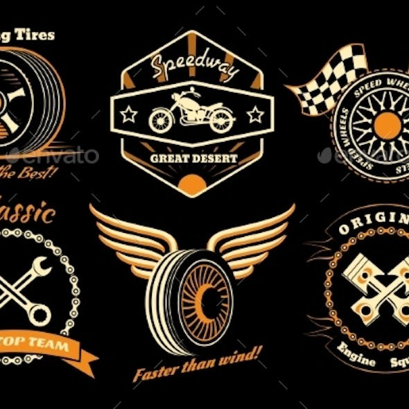 Set of Racing Badges
