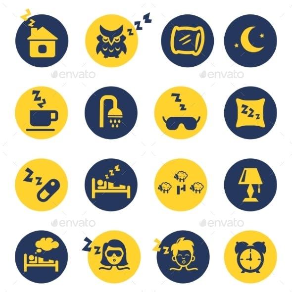 Sleep and Insomnia Icons