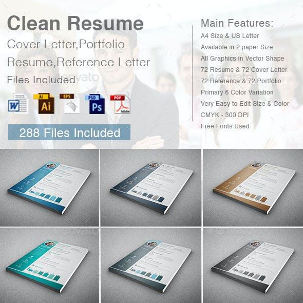 Clean Resume (4 in 1)