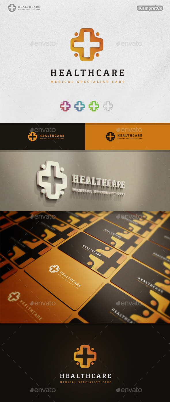 Health Care Logo - 3d Abstract