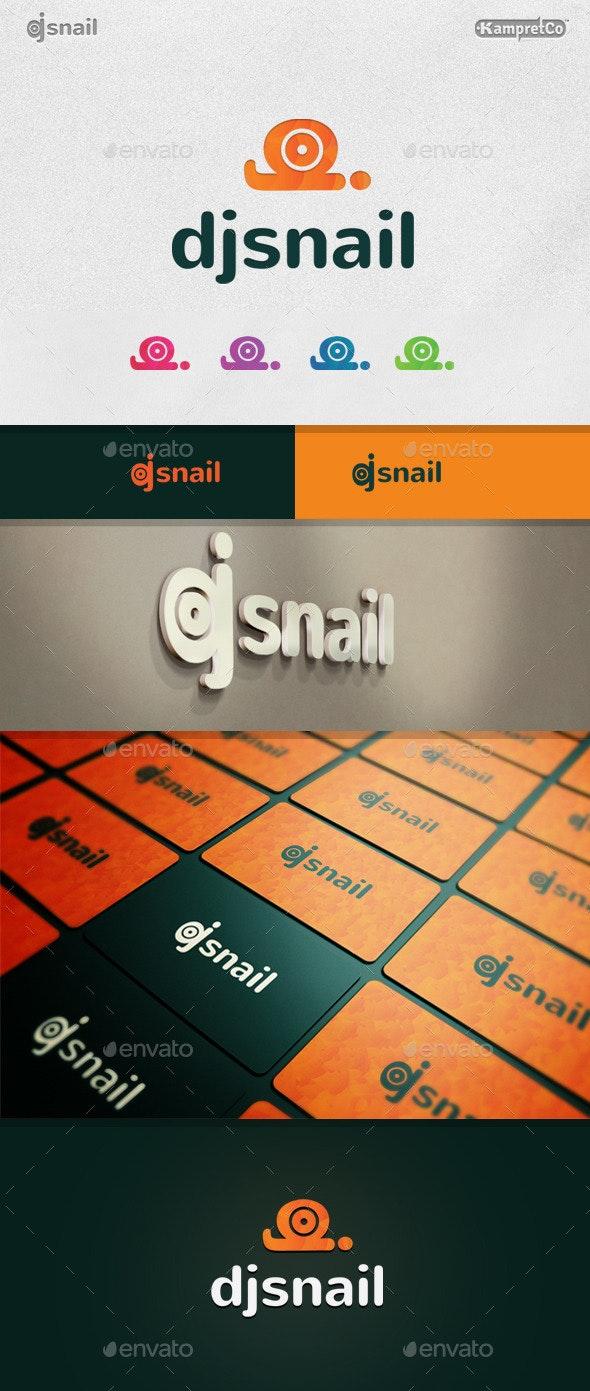 Dj Snail Logo - Vector Abstract