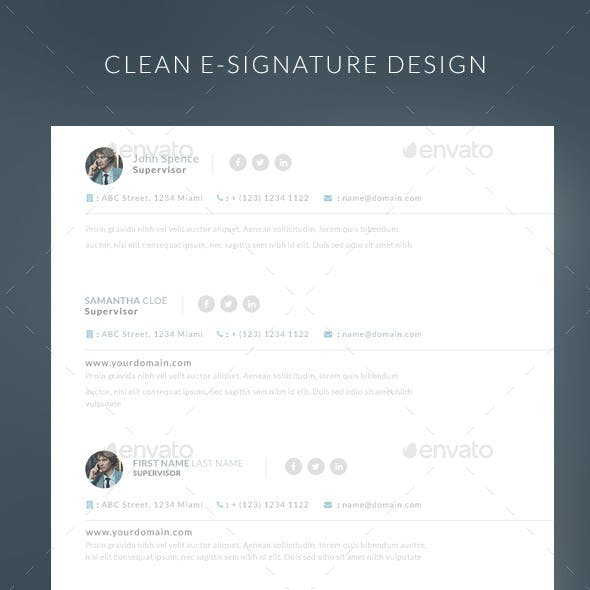 Simple E-mail E-signature
