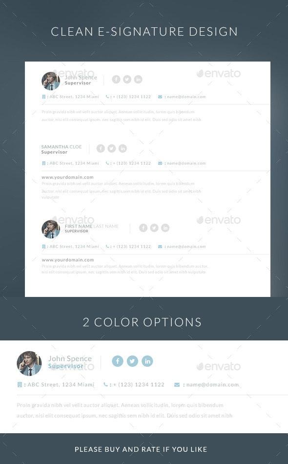 Simple E-mail E-signature  - Web Elements