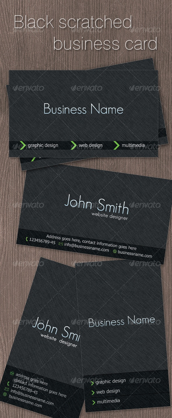 Black Scratched Business card - Creative Business Cards