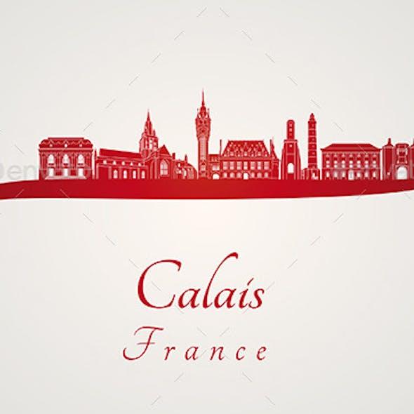 Calais Skyline in Red