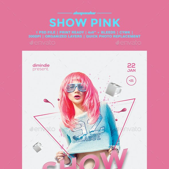Show Pink Flyer Template