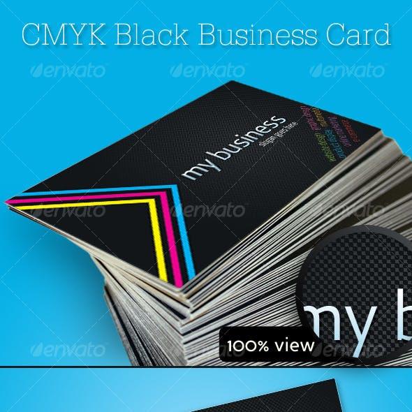 CMYK Black Business Card