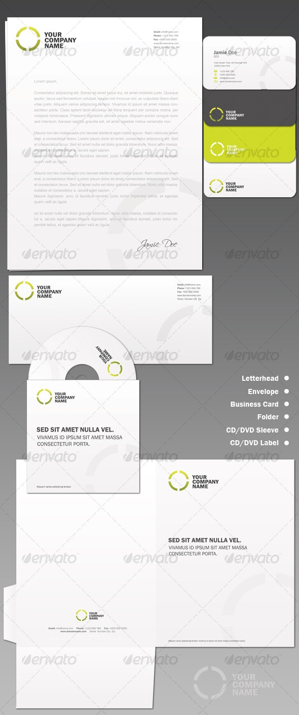ID Pack 2 - Stationery Print Templates