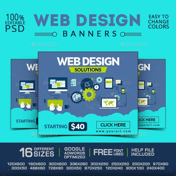 Web Design Company Banners