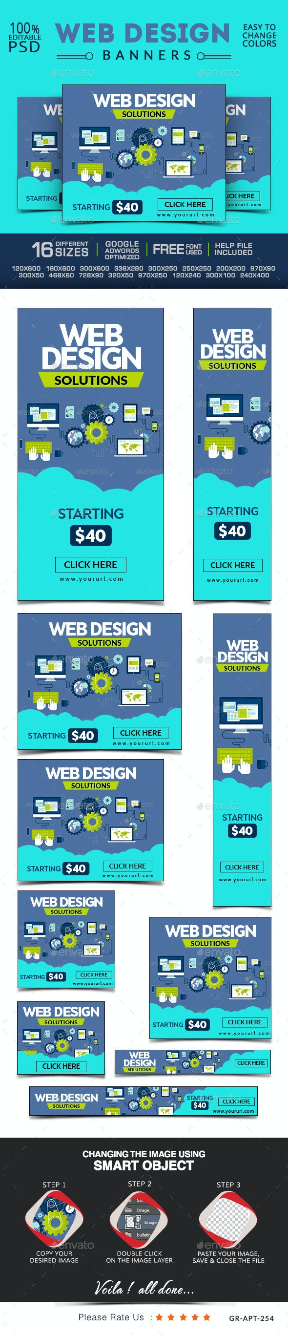 Web Design Company Banners - Banners & Ads Web Elements