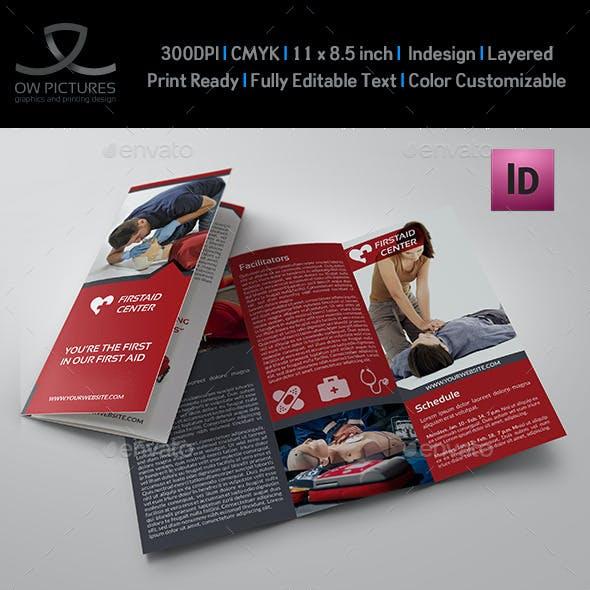 First Aid Training Tri-Fold Brochure Template