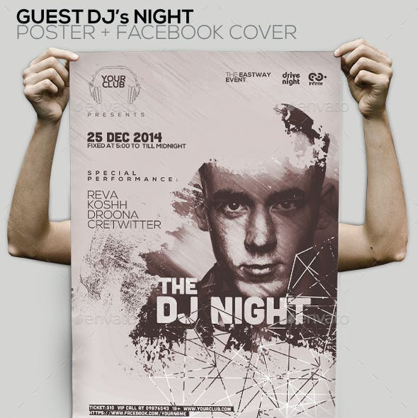 Guest Dj Party Poster/Flyer/Facebook Cover