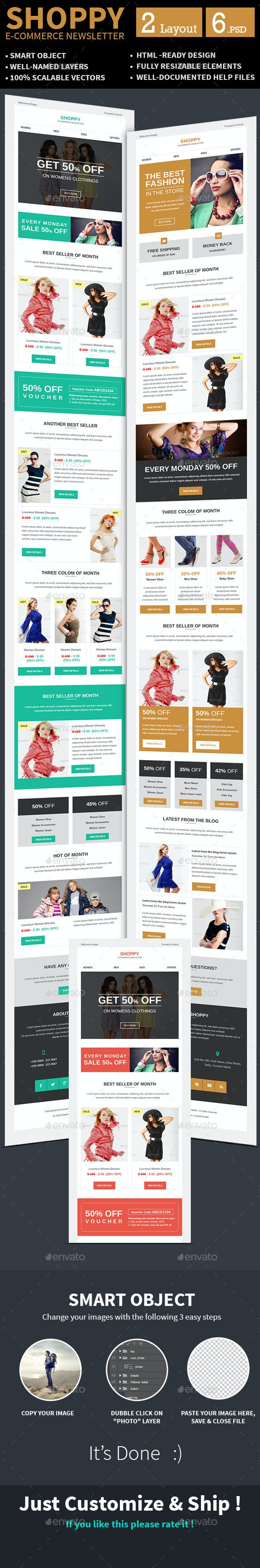 E-commerce Special Offer Newsletter PSD Template