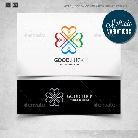 Clover Love - Good Luck - Logo Template