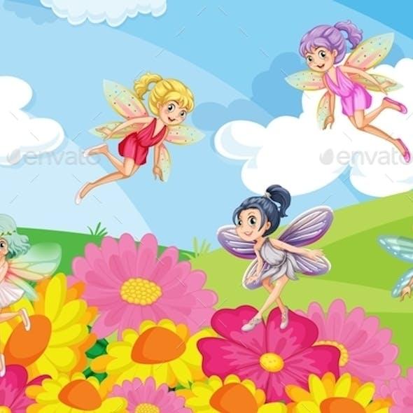 Garden with Fairies