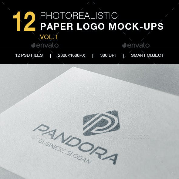 12 Photorealistic Logo Mock-Ups Vol.1