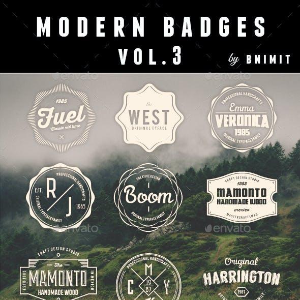 Modern Badges Vol 3