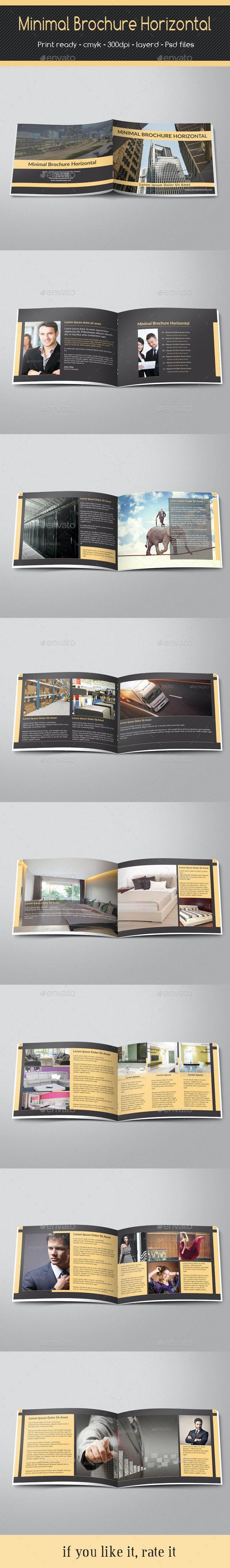 Minimal Brochure Horizontal - Portfolio Brochures