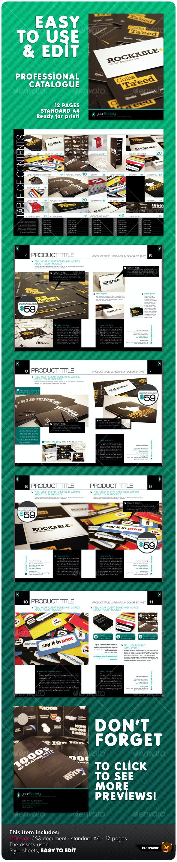 Professional Catalogue - Miscellaneous Print Templates