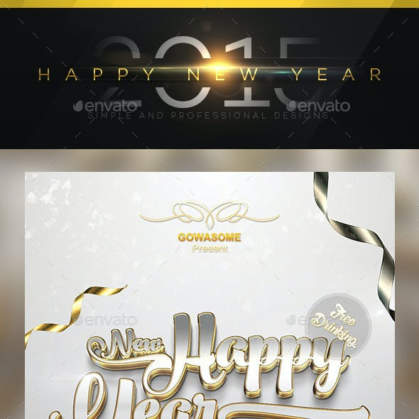 Happy New Year 2015 Flyer