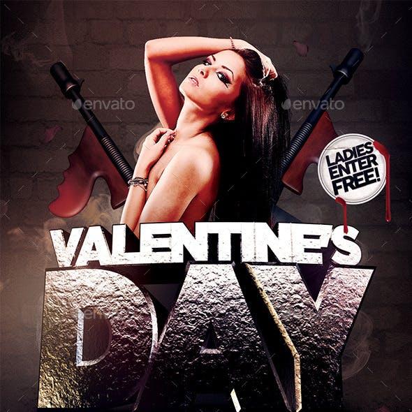 Valentine's Day Massacre Flyer Template
