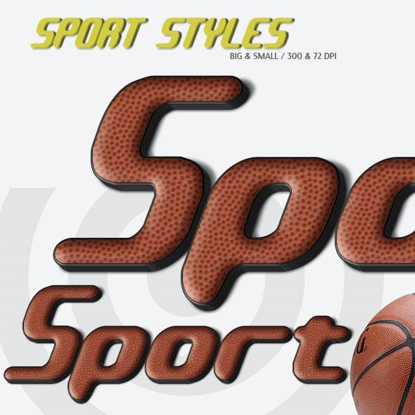 Sport Text Styles