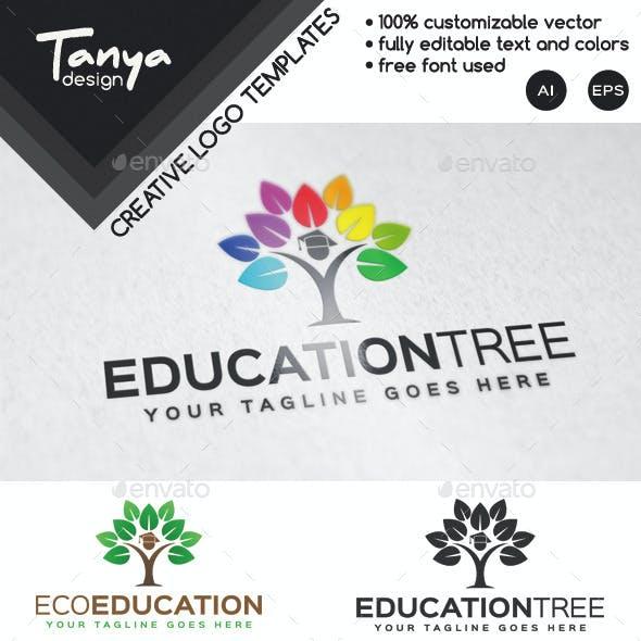 Education Tree Logo Template