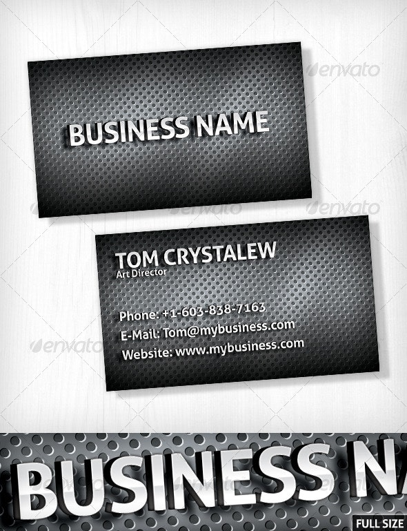 Metallic Business Card - Real Objects Business Cards